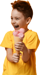 Boy eating Gelato